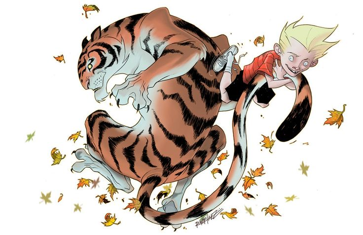 The Art Of Animation, Ruben Martinez, reminds me of Calvin and Hobbes.