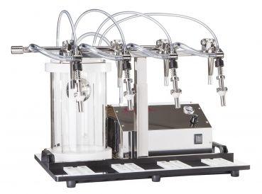 Enolmatic / Enolmaster Hochglanz-Edelstahl Vakuum-Abfüllgerät  http://www.fischer-lahr.de/Abfuellen/Abfuellgeraete/Enolmaster-Standard.html