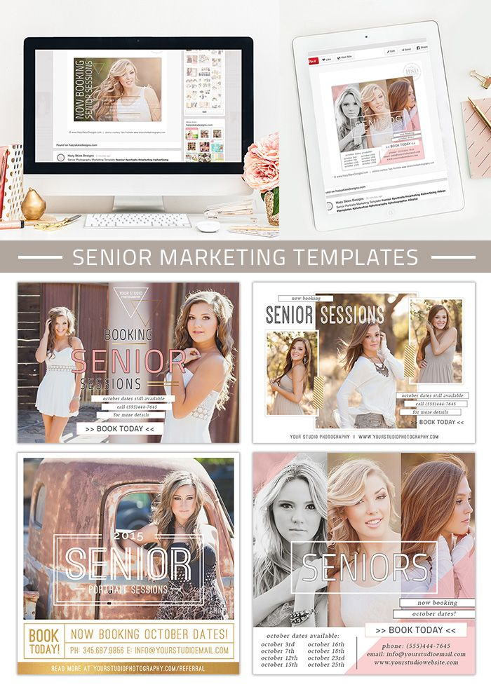 senior marketing templates