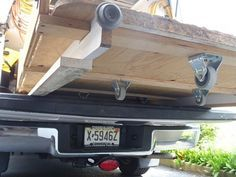 """Sliding Truck Bed by 11678 -- Homemade sliding bed for a pickup, constructed from 1/2"""" plywood, casters, surplus lumber, and eyebolts. http://www.homemadetools.net/homemade-sliding-truck-bed"""