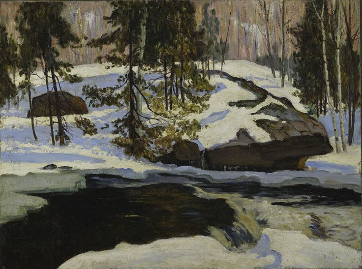 Maurice Cullen (1866 - 1934), Brook in Winter, c. 1927,  oil on canvas, 61 x 81.5 cm, Gift of Colonel R.S.  McLaughlin, 1968.7.16