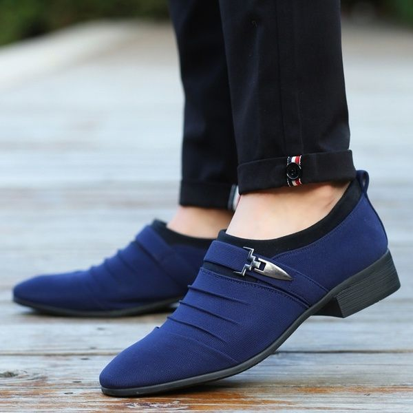 Men Casual Shoes Pointed Toe Leather