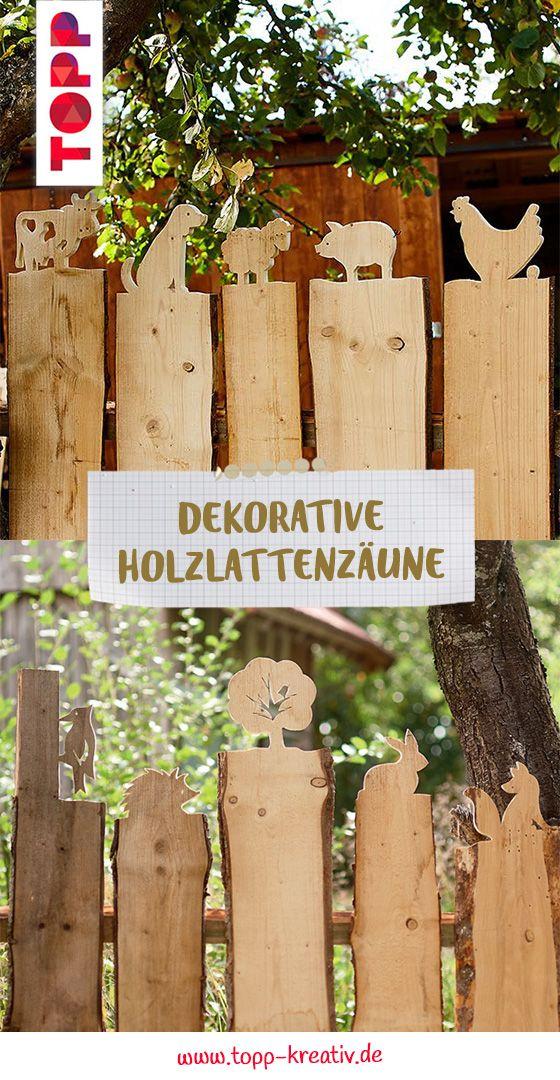 Dekorative Holzlattenzäune