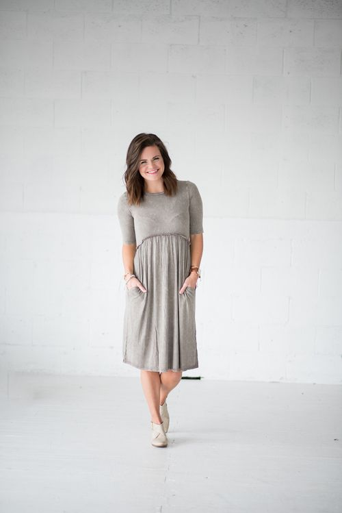 Pippa Dress- Dk Gray