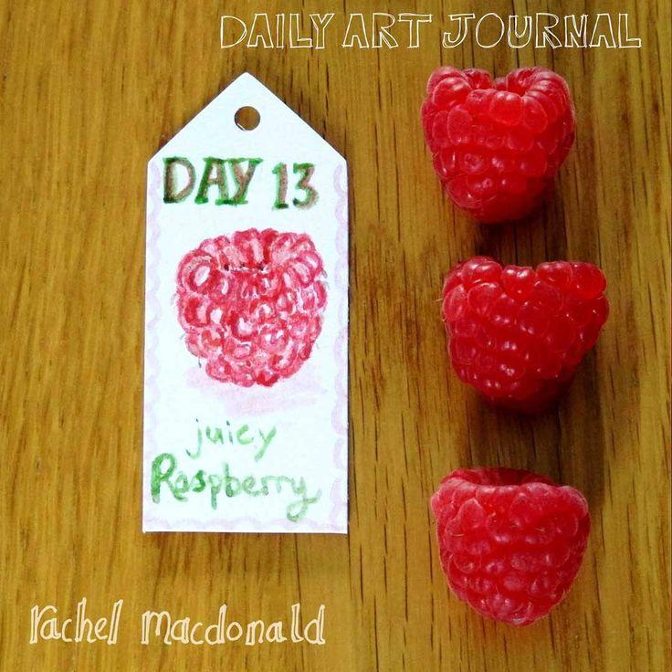 Daily Art Journal - Day 13. Raspberry