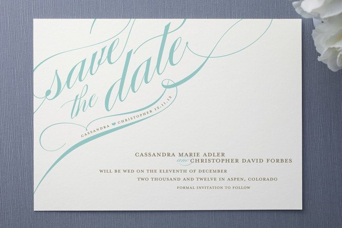 more formal save the date