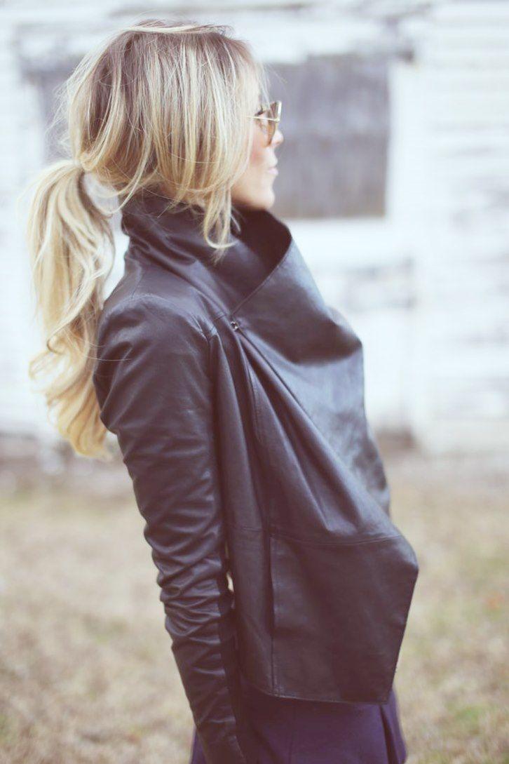 siyah deri ceket kadın tarz stil Deri ceket kombinleri 2015 deri ceketler ve modelleri
