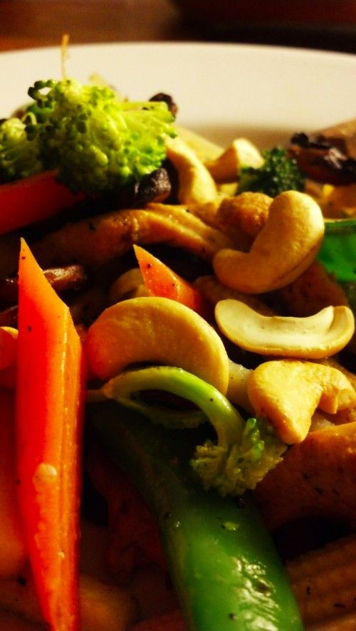 Kylling wok med kokosmelk og cashewnøtter :: Marlenes oppskrifter