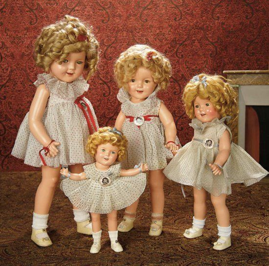 """American Composition """"Shirley Temple"""" by Ideal in Petite Size 400/600 