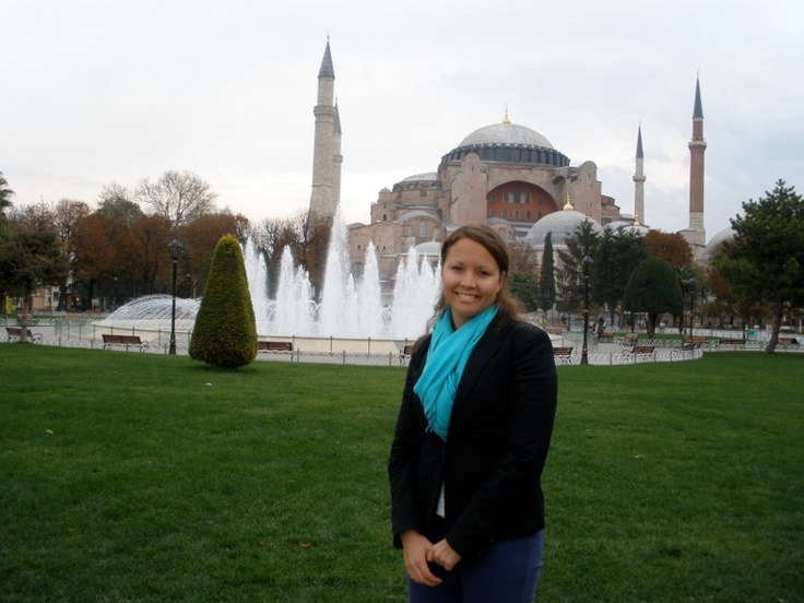 In front of the Aya Sophia