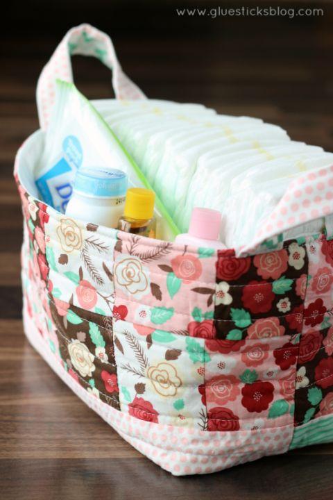 Fabric Storage Basket Tutorial!
