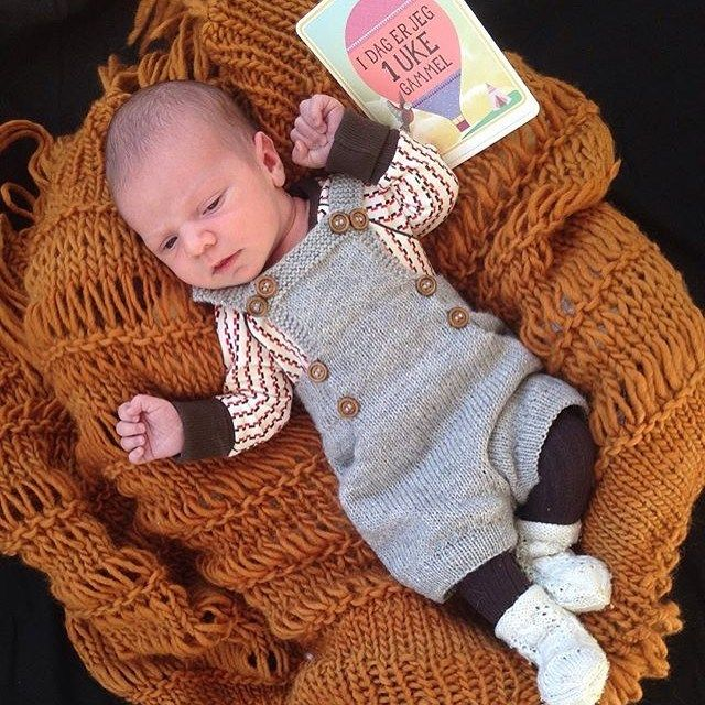 1 week old❤️ we love the combination knitted crawlers with our Body from our SS15 collection  thanks to @vimse_nettbutikk for letting us shear this adorable little newborn baby with us #albababy #albaofdenmark #knit #albababyss15 #babyboy