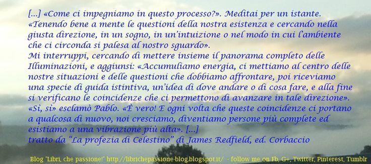 """James Redfield, citazione """"La profezia di Celestino"""" http://librichepassione-blog.blogspot.it/2014/10/citazioneRedfield.html"""