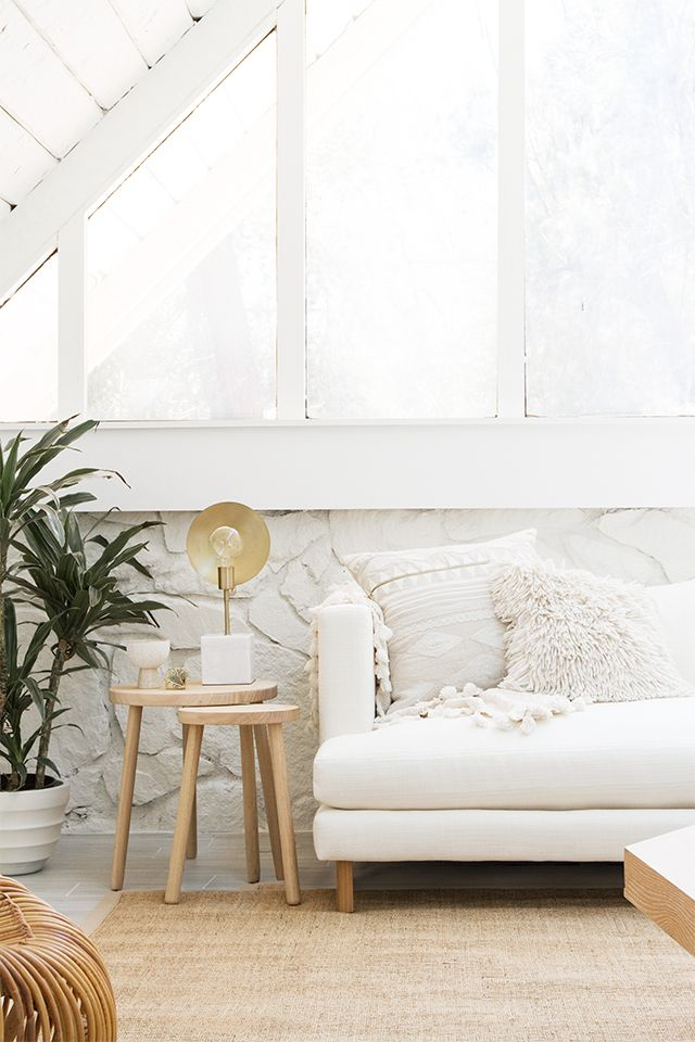 How to style a white sofa 3 ways and how to keep it white with @electroluxUS // sarah sherman samuel