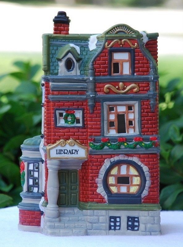 14 best Christmas library village images on Pinterest | Christmas ...