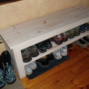 Build Shoe Storage Bench Plans with diy shoe rack ideas