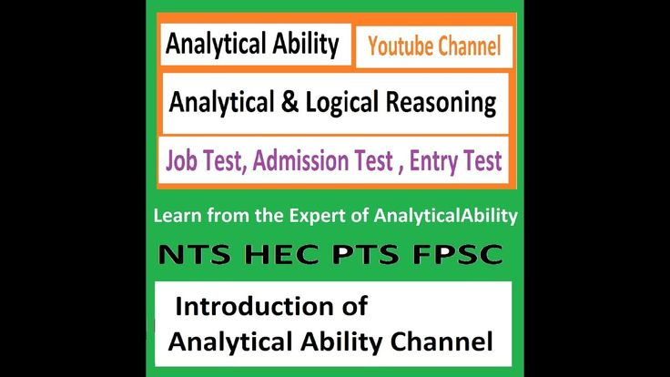 Introduction to Analytical Ability in Entry Test Aptitude Test Admission...