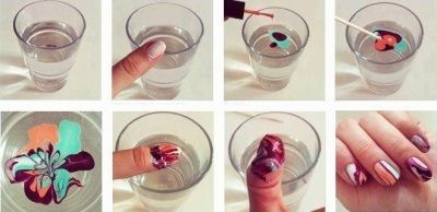 Водный маникюр пошагово, больше интересных фото на женском сайте womansovetnik.com water manicure