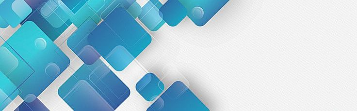 Business Technology blue banner abstract geometric background