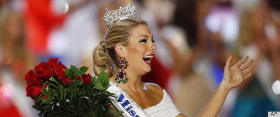 "LAS VEGAS (AP) — A 23-year-old contestant from Brooklyn, N.Y., has won the title of Miss America. Mallory Hagan won the Las Vegas beauty pageant Saturday night after tap dancing to James Brown's ""Get Up Off of That Thing"" and answering a question about whether armed guards belong in grade schools by saying we should not fight violence with violence."