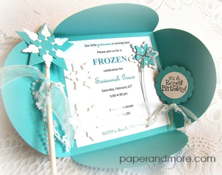 DIY Frozen Invitation Set by Sandee Shanabrough www.paperandmore.com