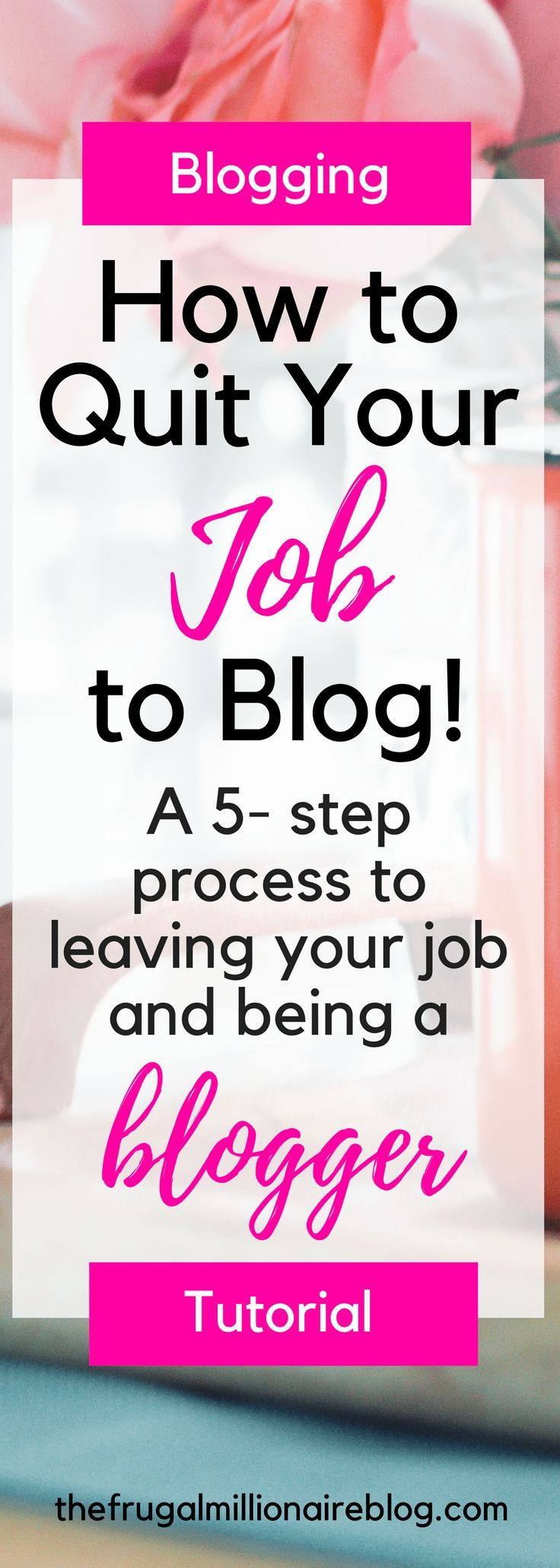 Do you want to quit your full-time job to blog?! Here's an awesome five-step process to building a profitable blog. Enjoy!!