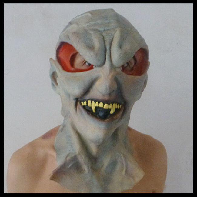 Бесплатная доставка страшные силиконовые маски для лица инопланетных НЛО внеземного партии эт ужас полный латексные маски на Хэллоуин игрушка пропеллер