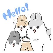 Free Machiko Rabbit: Hopping Out! Line Sticker - http://www.line-stickers.com/machiko-rabbit-hopping-out/