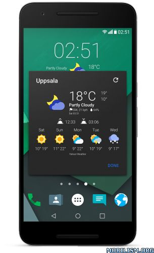 "Chronus Home & Lock Widget v7.0 BETA1 [Pro]Requirements: 4.2+Overview: Welcome to Chronus, a set of elegant Home & Lock screen Clock, Weather, News feed, Google Tasks, Stocks and Calendar widgets.  As a flexible ""Information""..."