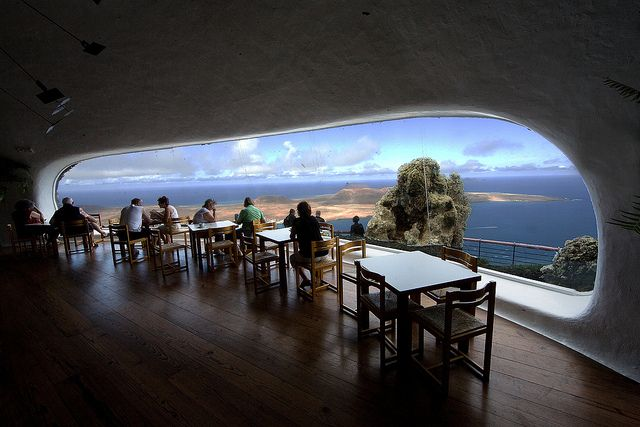 Cafe Mirador, Mirador del Rio, Lanzarote | Flickr: Intercambio de fotos Possible cave living room!!!!