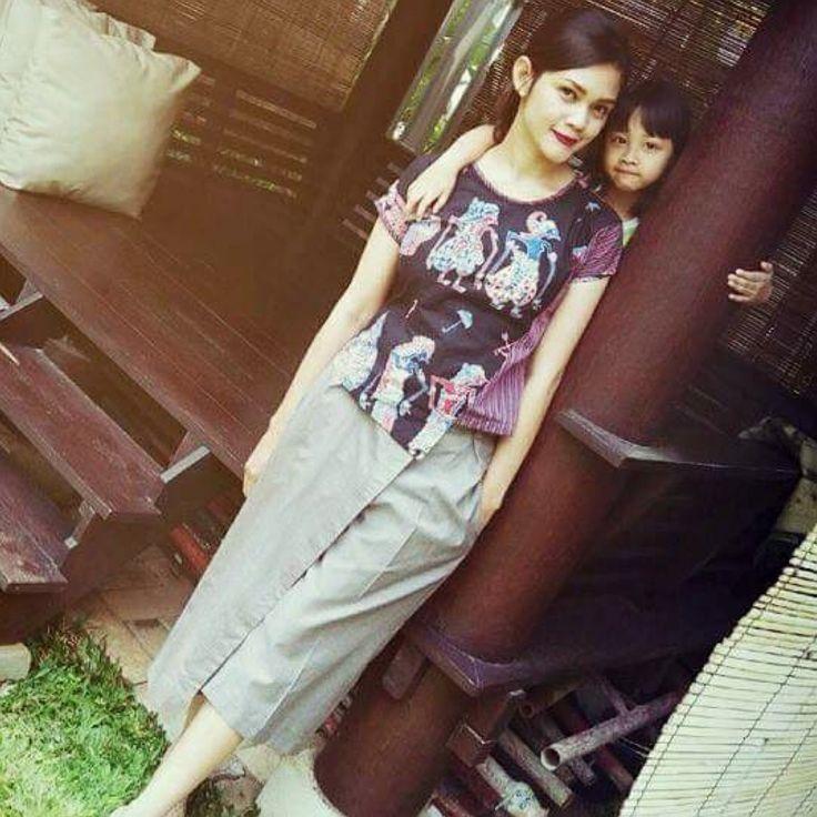 Batik Wayang & Tenun lurik. cullotes pants. By Gendhi's Batik.