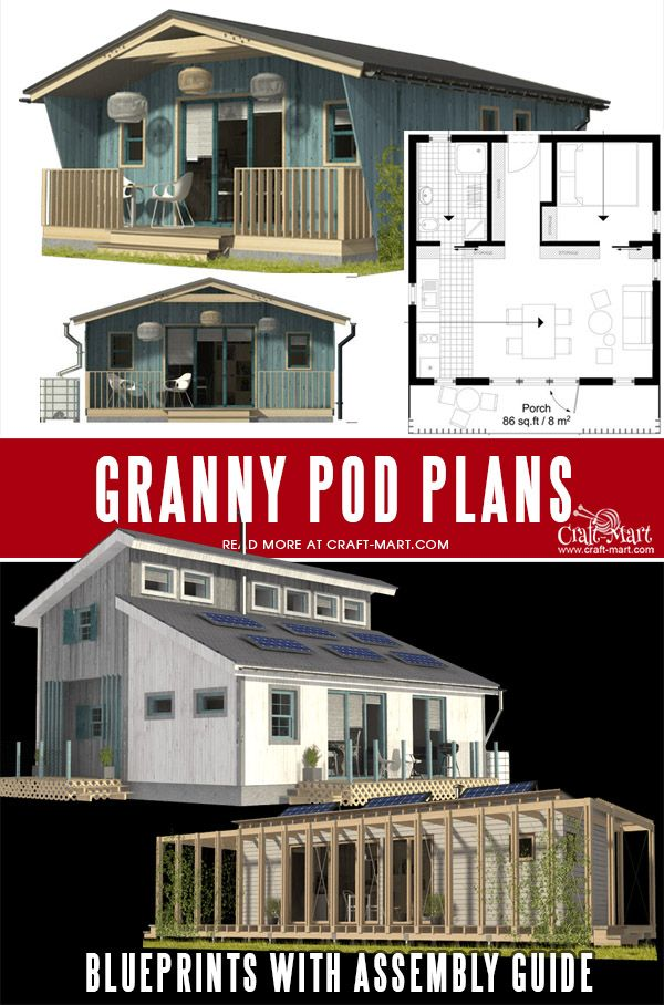 16 Cutest Small And Tiny Home Plans With Cost To Build Craft Mart In 2020 Craftsman House Plans Tiny House Plans Pod House