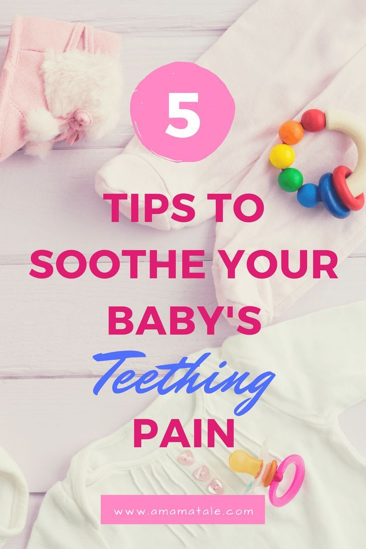 5 Tips for Teething Pain that really work! No medicine! http://www.amamatale.com