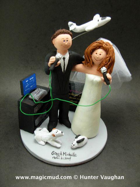 Karaoke Wedding Cake Topper http://www.magicmud.com 1 800 231 9814 magicmud@magicmud.com https://twitter.com/caketoppers https://www.facebook.com/PersonalizedWeddingCakeToppers $235 #wedding #cake #toppers #karaoke#custom #personalized #Groom #bride #anniversary #birthday#weddingcaketoppers#cake toppers#figurine#gift#wedding cake toppers #disc-jockey#DJ#party#music#mixmaster#DeeJay#Karaoke#discJockey
