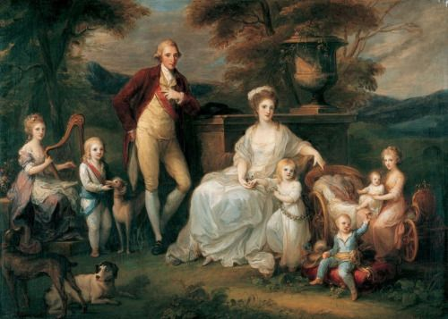 King Ferdinand I of Naples and Sicily and Queen Maria Karolina with their children, Angelika Kauffmann, 1783