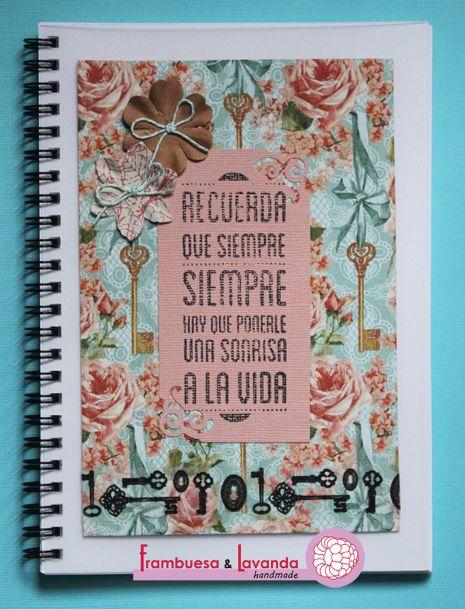 Libreta Scrap, más en http://www.frambuesaylavanda.blogspot.com.es/
