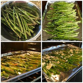 Sweet Little Bluebird: Roasted Asparagus with Parmesan Cheese