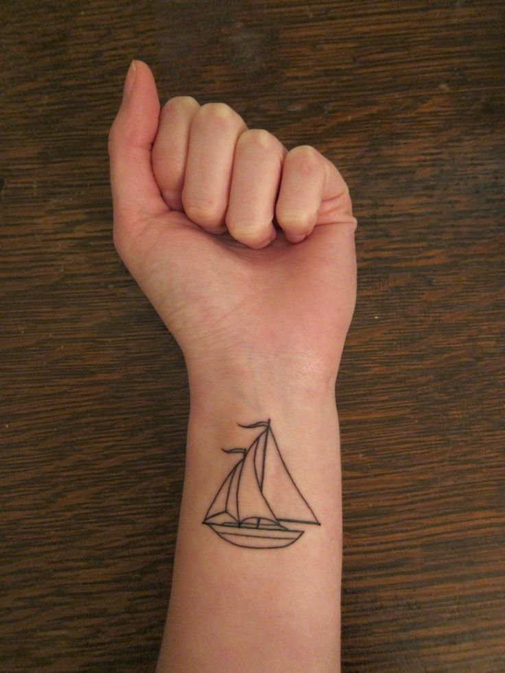 Don't like this particular sailboat, but love the sailboat idea for a tattoo.