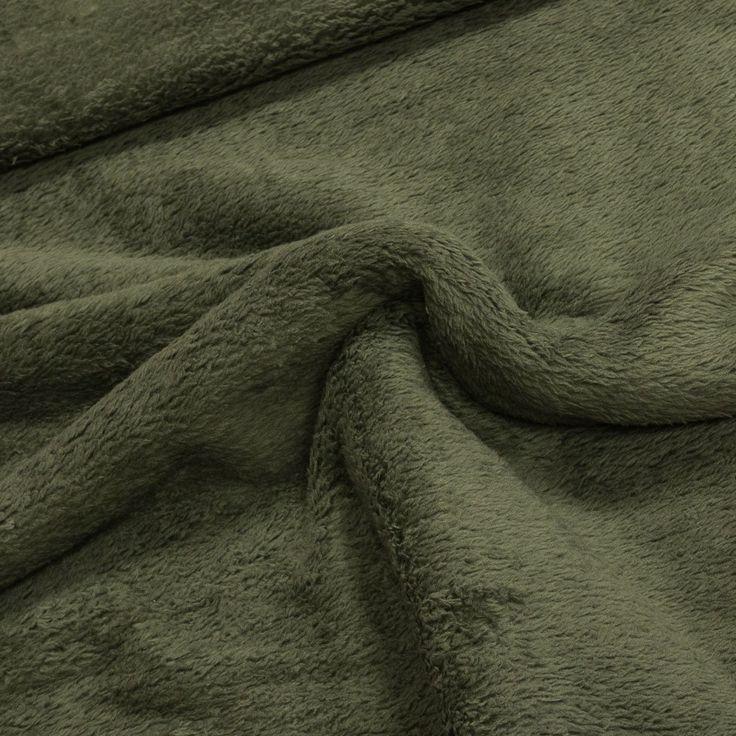 Mikroplyš / coral fleece 124 jednobarevná tmavě zelená, š.175cm (látka v metráži) | Internetový obchod Chci Látky.cz