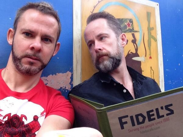 Dominic Monaghan and Billy Boyd (aka Merry and Pippin)