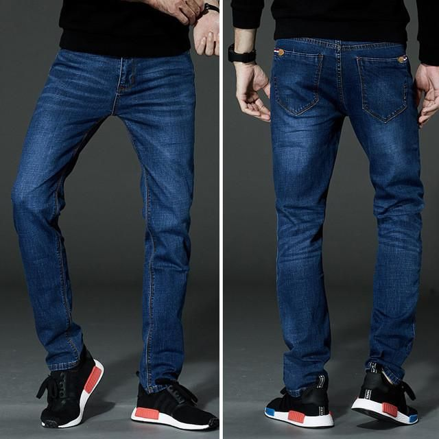 Drizzte Mens Jeans Stretch Denim Jean Plus Size 32 34 35 36 38 40 42 44 46 Pants Trousers Designer Slim Fit Jeans For Men