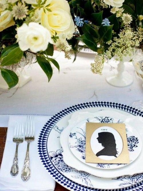 17 idées de marques places mariage avec des silhouettes