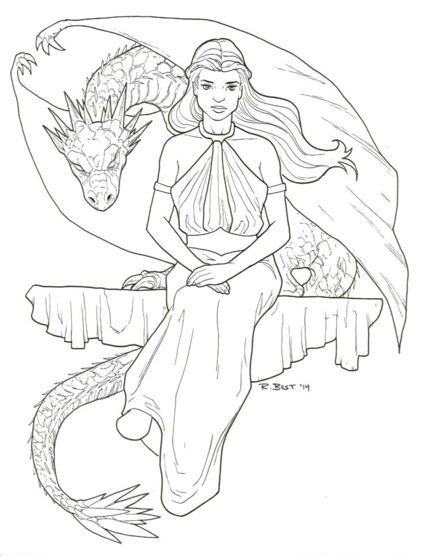 game of thrones coloring pages khaleesi - photo #8