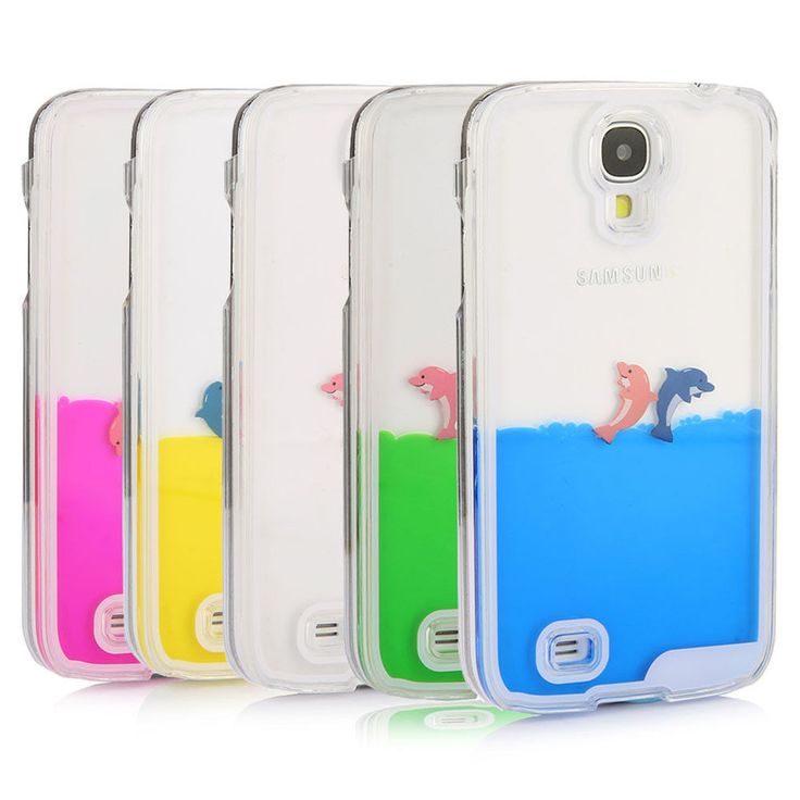 LIQUID Fish Dolphin Water Tank Dynamic Clear Case Cover For Galaxy S5/S6/S6 Edge