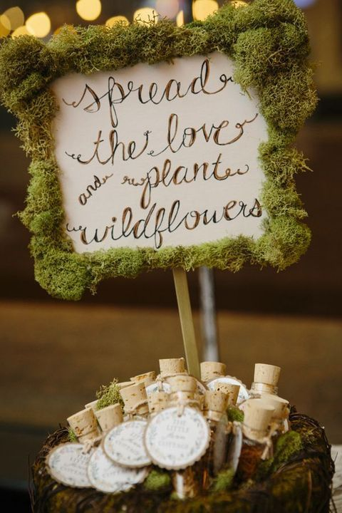 Send the bride and groom off with a sprinkling of wildflower seeds.