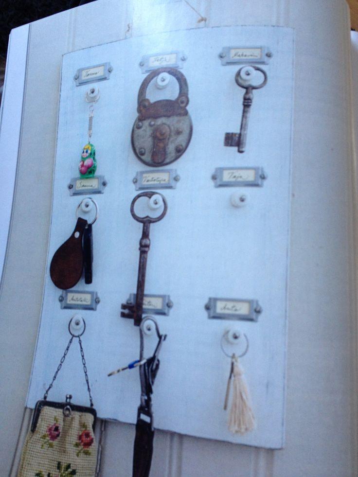 Oude sleutels wanddecoratie