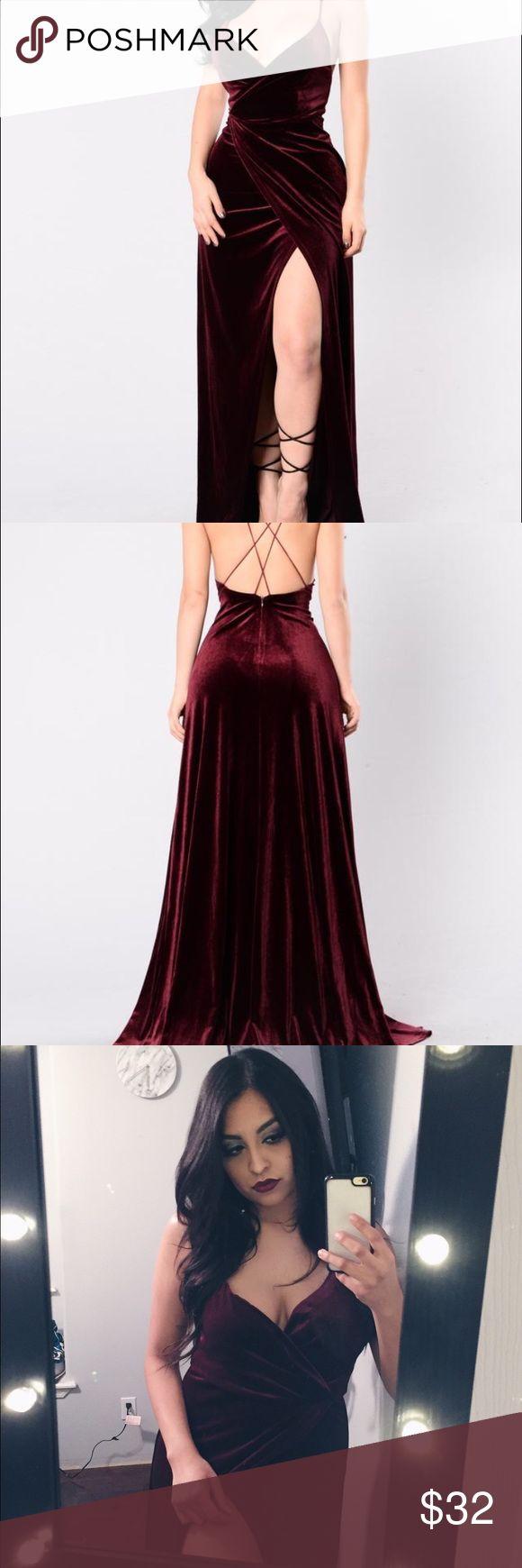 Look for less velvet dress on the hunt - Burgundy Velvet Dress Floor Length Red Velvet Dress It S Absolutely Stunning I M