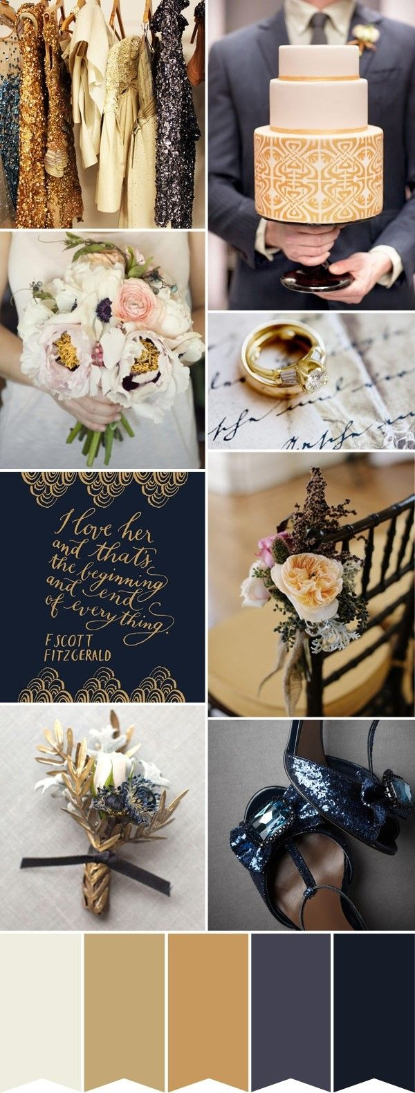 Fall in love with a beautiful gold and navy color palette. | Mary Kay