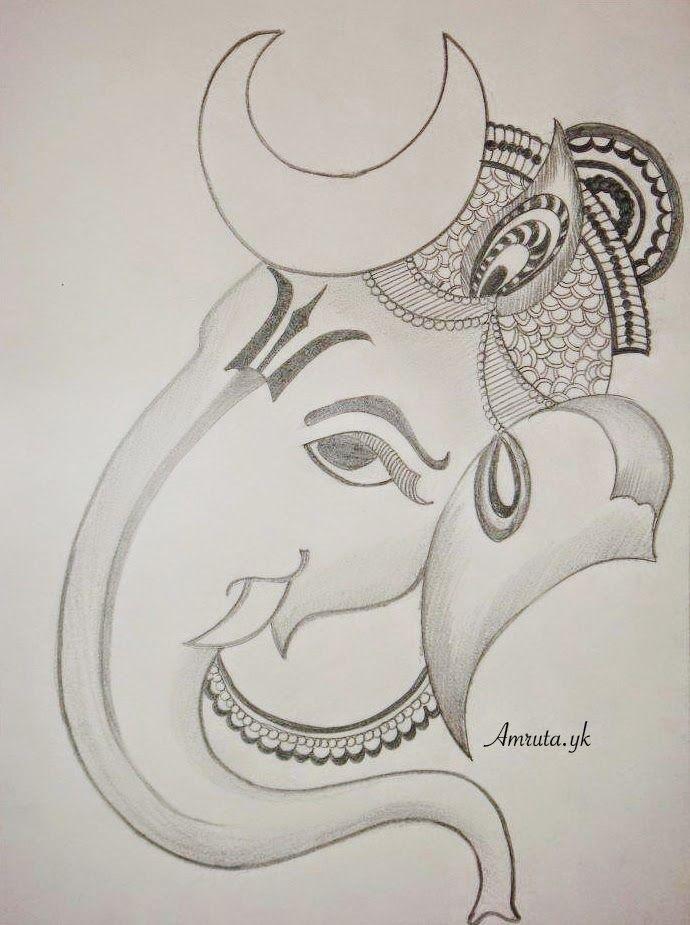 Ganesha Sketch 11 690 X 925 Carwad Net Art Drawings Sketches Simple Ganesha Sketch Art Drawings Sketches Creative