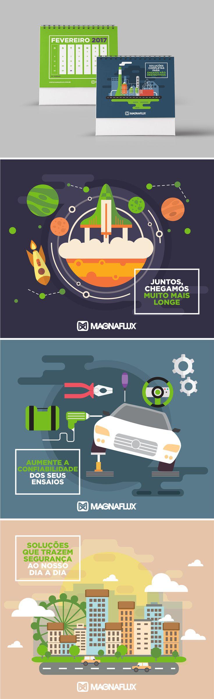 Calendário Magnaflux 2017 Criação do calendário 2017 da Magnaflux.